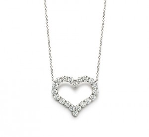 pendente di diamanti Tiffany Hearts